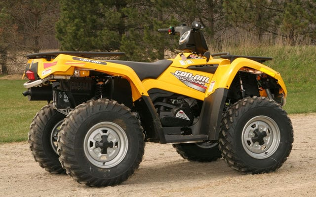2008 Can Am Outlander 400 H O Review Atv Trail Rider