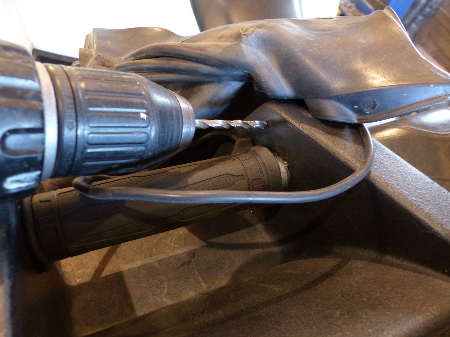 Installing Heated Grips on a Passenger Seat