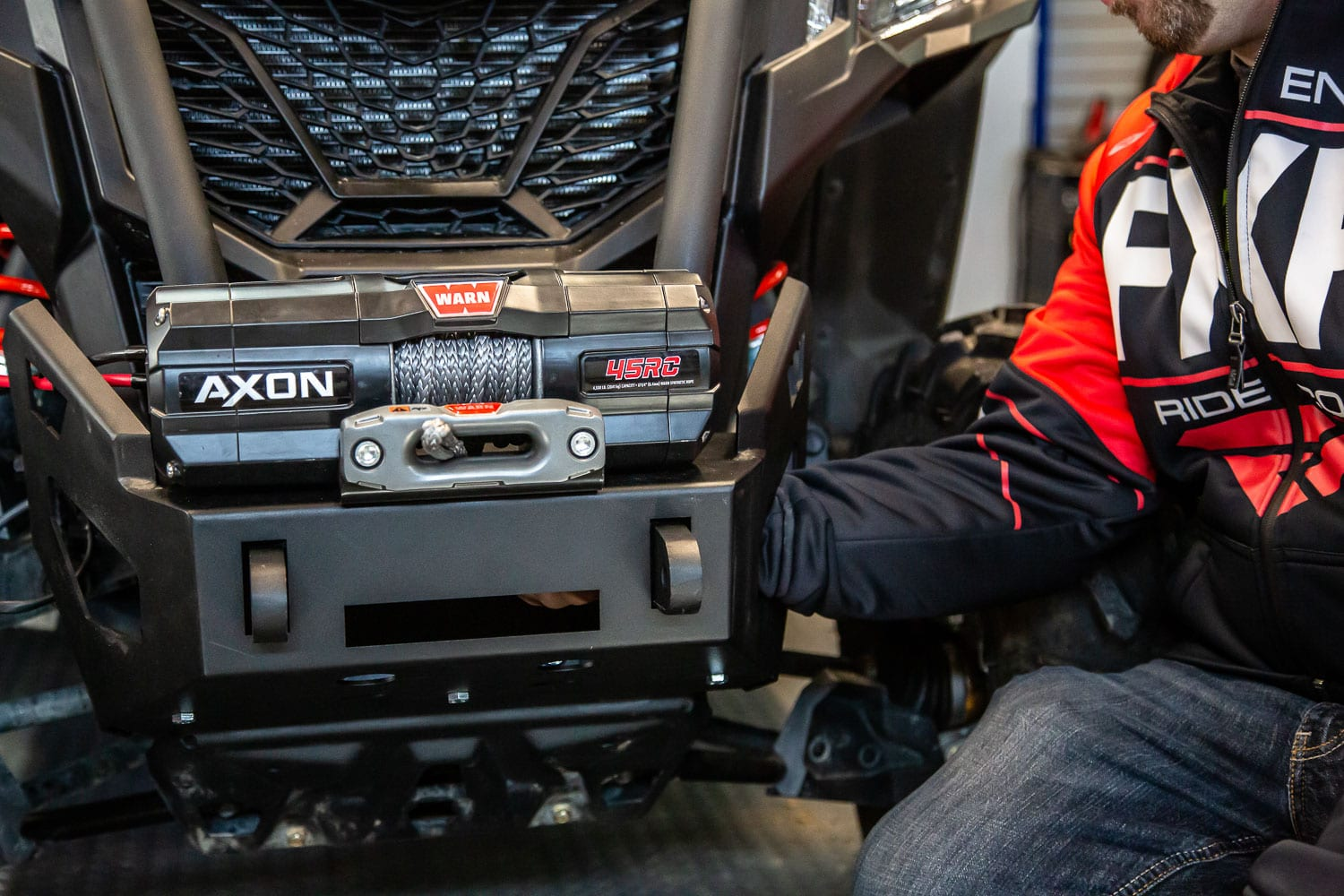 Installation of the Warn Axon 45 RC Winch