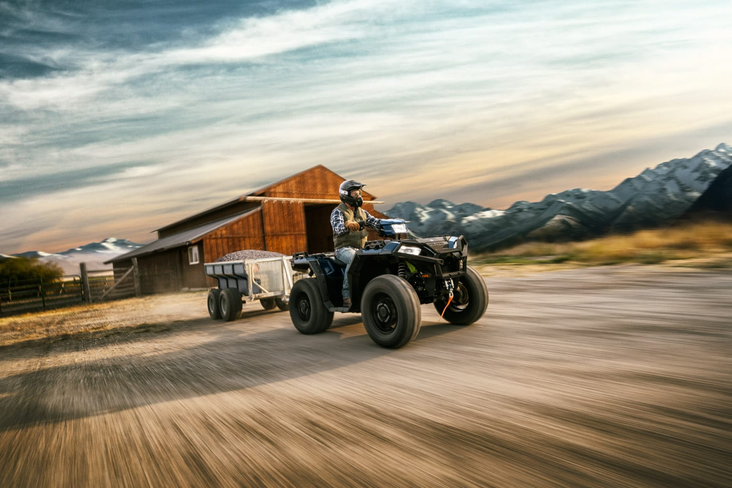 Towing with an ATV