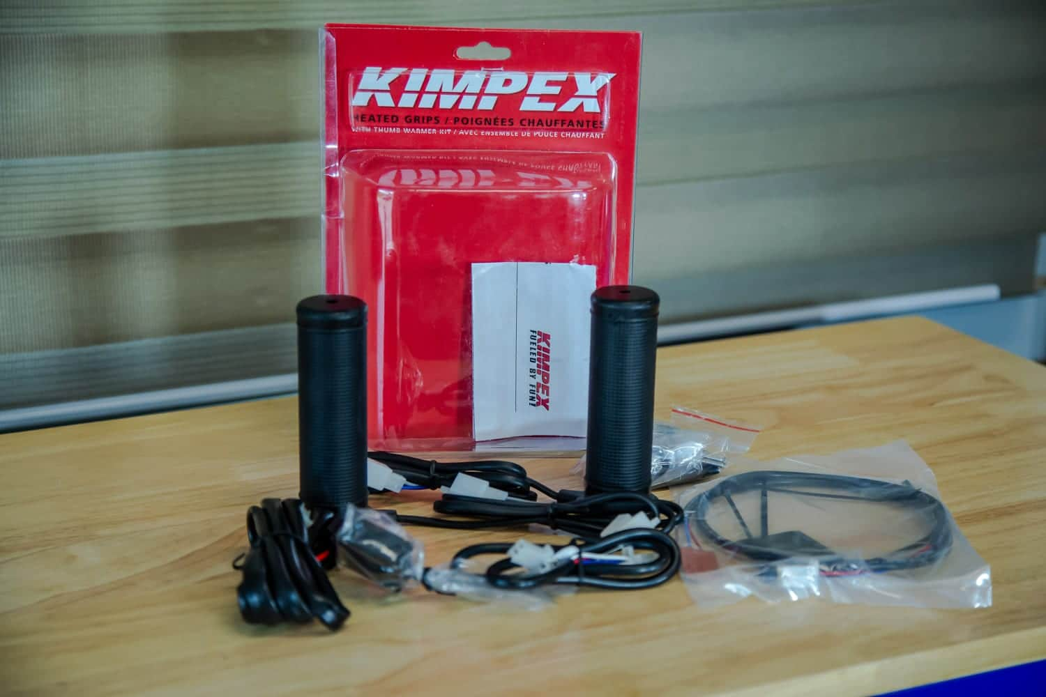 Installation of KIMPEX heated grips and thumbs